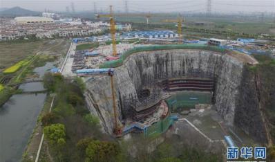 """""""世界建筑奇迹""""上海深坑酒店明年建成"""